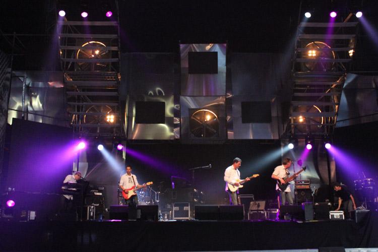 Bühne im Industrial-Style